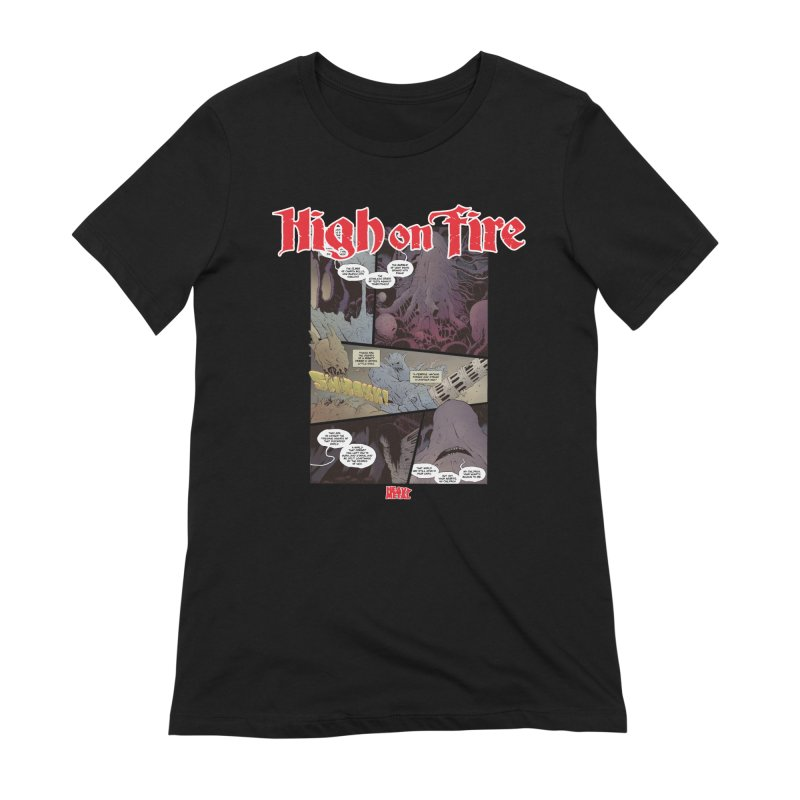 HIGH ON FIRE Heavy Metal 295 66 Women's Extra Soft T-Shirt by Heavy Metal Magazine