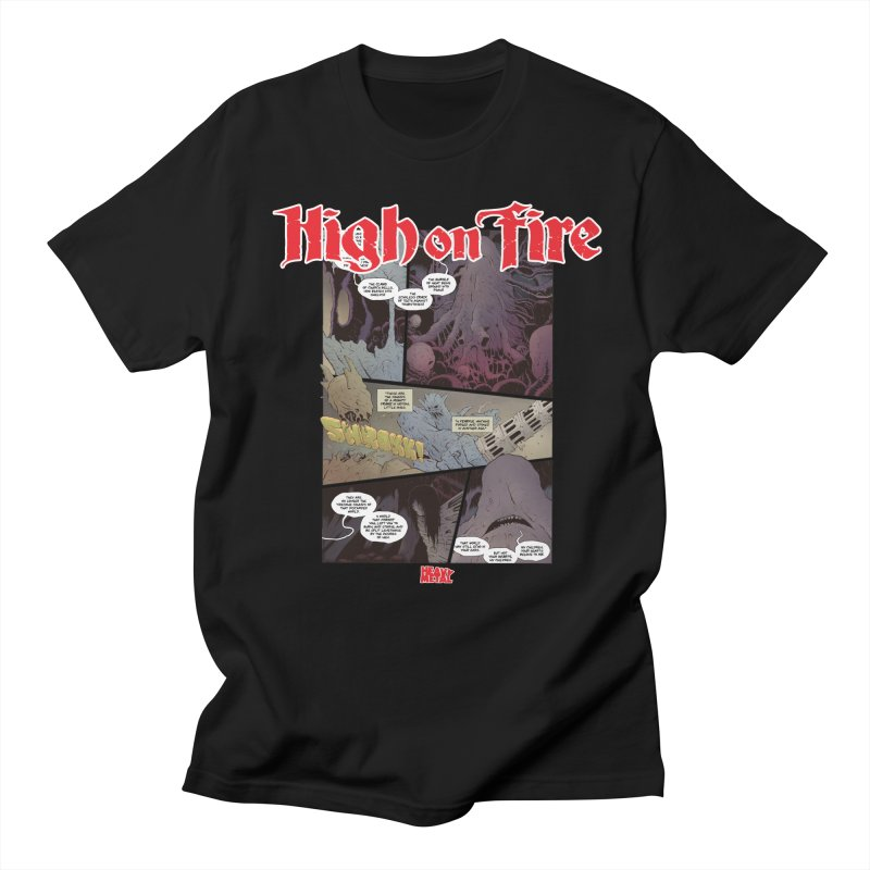 HIGH ON FIRE Heavy Metal 295 66 Women's Regular Unisex T-Shirt by Heavy Metal Magazine