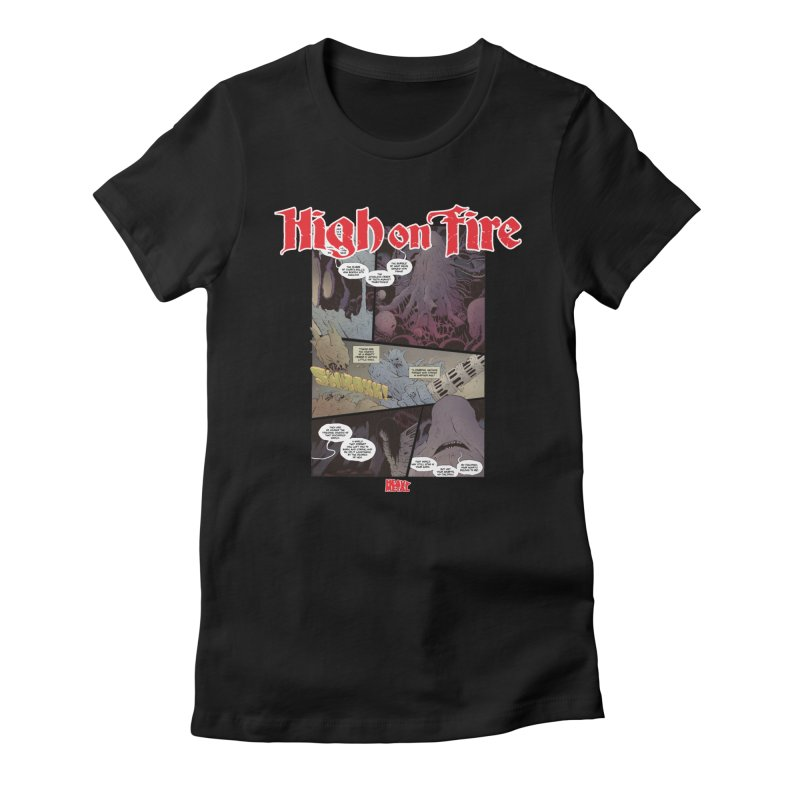 HIGH ON FIRE Heavy Metal 295 66 Women's Fitted T-Shirt by Heavy Metal Magazine