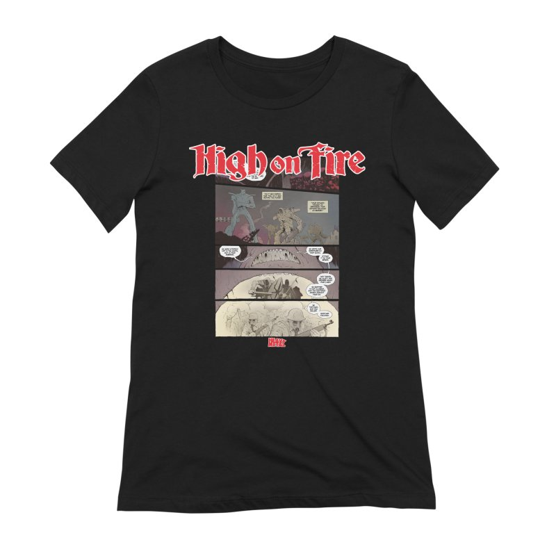 HIGH ON FIRE Heavy Metal 295 67 Women's Extra Soft T-Shirt by Heavy Metal Magazine