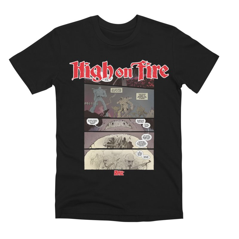 HIGH ON FIRE Heavy Metal 295 67 Men's T-Shirt by Heavy Metal Magazine