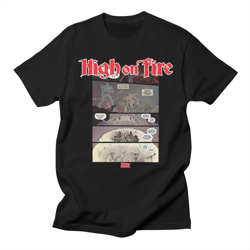 HIGH ON FIRE Heavy Metal 295 67 Women's Regular Unisex T-Shirt by Heavy Metal Magazine