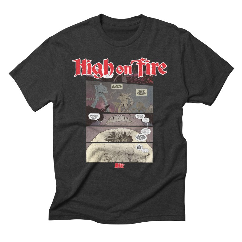 HIGH ON FIRE Heavy Metal 295 67 Men's T-Shirt by Heavy Metal Magazine