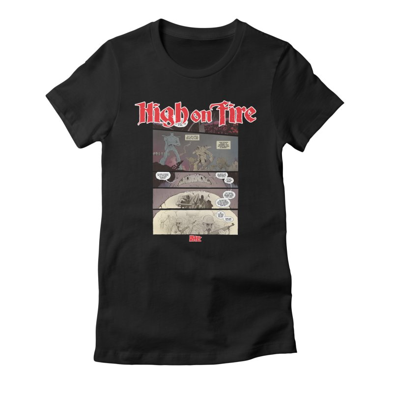 HIGH ON FIRE Heavy Metal 295 67 Women's Fitted T-Shirt by Heavy Metal Magazine