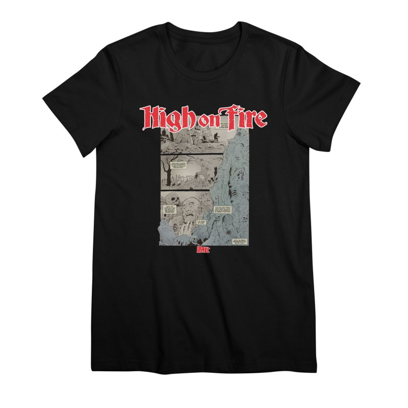 HIGH ON FIRE Heavy Metal 295 68 Women's Premium T-Shirt by Heavy Metal Magazine