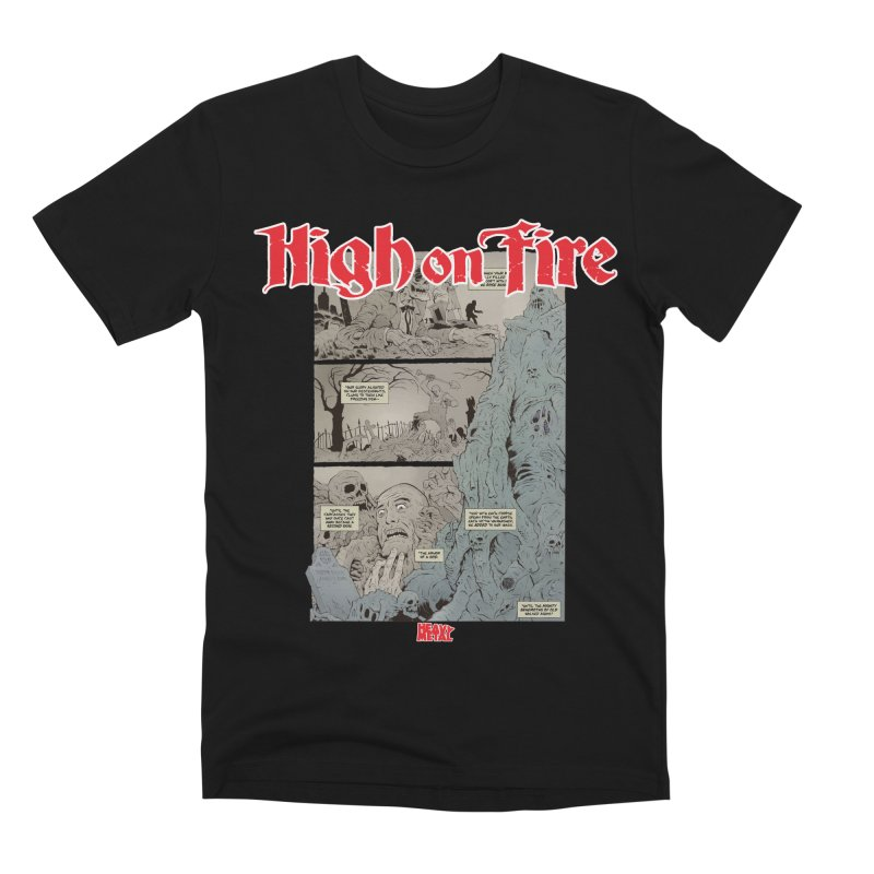 HIGH ON FIRE Heavy Metal 295 68 Men's T-Shirt by Heavy Metal Magazine