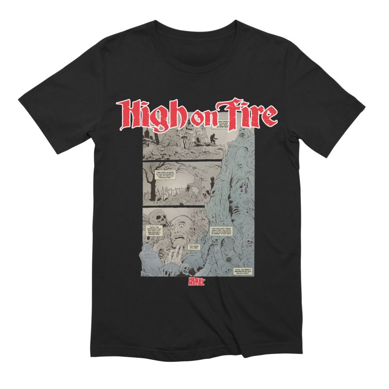 HIGH ON FIRE Heavy Metal 295 68 Men's T-Shirt by Heavy Metal Magazine