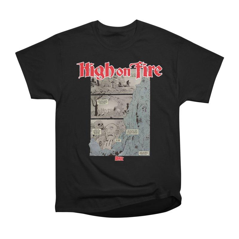 HIGH ON FIRE Heavy Metal 295 68 Men's Heavyweight T-Shirt by Heavy Metal Magazine