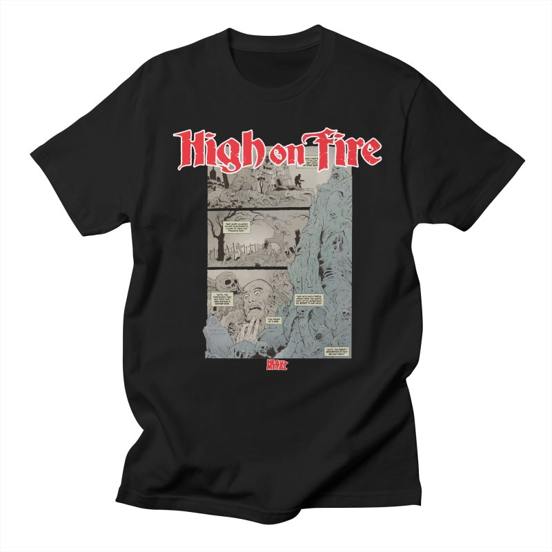 HIGH ON FIRE Heavy Metal 295 68 Men's Regular T-Shirt by Heavy Metal Magazine