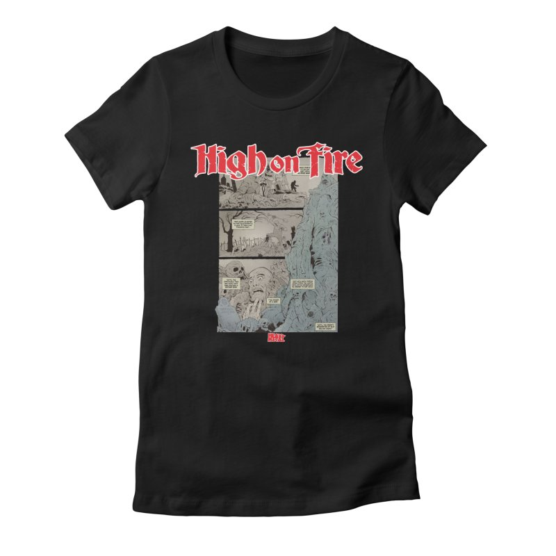 HIGH ON FIRE Heavy Metal 295 68 Women's Fitted T-Shirt by Heavy Metal Magazine