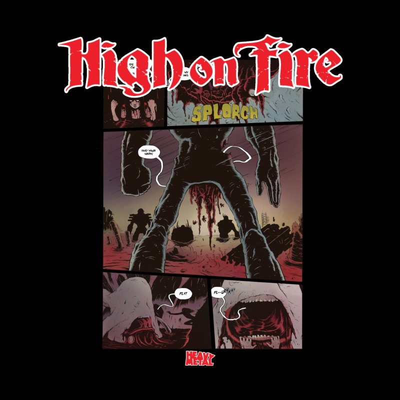 HIGH ON FIRE Heavy Metal 295 70 Women's T-Shirt by Heavy Metal Magazine