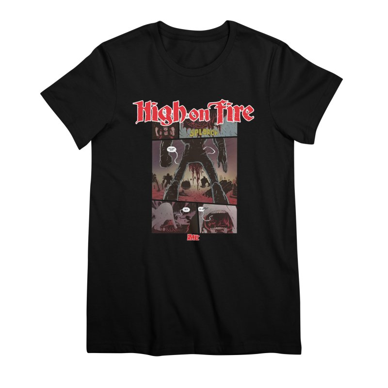 HIGH ON FIRE Heavy Metal 295 70 Women's Premium T-Shirt by Heavy Metal Magazine