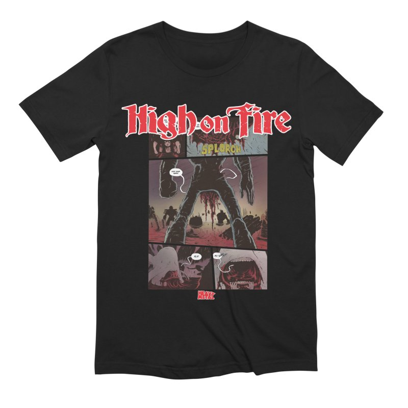 HIGH ON FIRE Heavy Metal 295 70 Men's Extra Soft T-Shirt by Heavy Metal Magazine