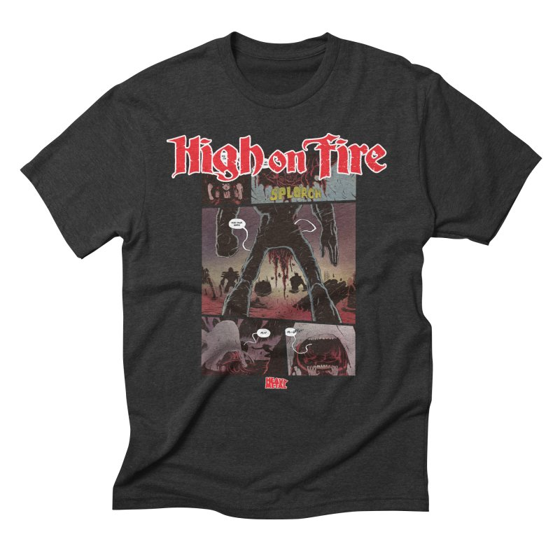 HIGH ON FIRE Heavy Metal 295 70 Men's T-Shirt by Heavy Metal Magazine