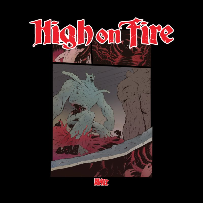 HIGH ON FIRE Heavy Metal 295 71 Women's T-Shirt by Heavy Metal Magazine