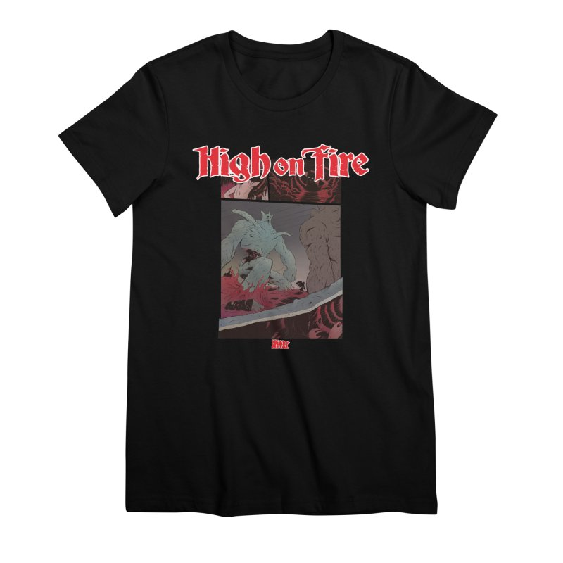 HIGH ON FIRE Heavy Metal 295 71 Women's Premium T-Shirt by Heavy Metal Magazine