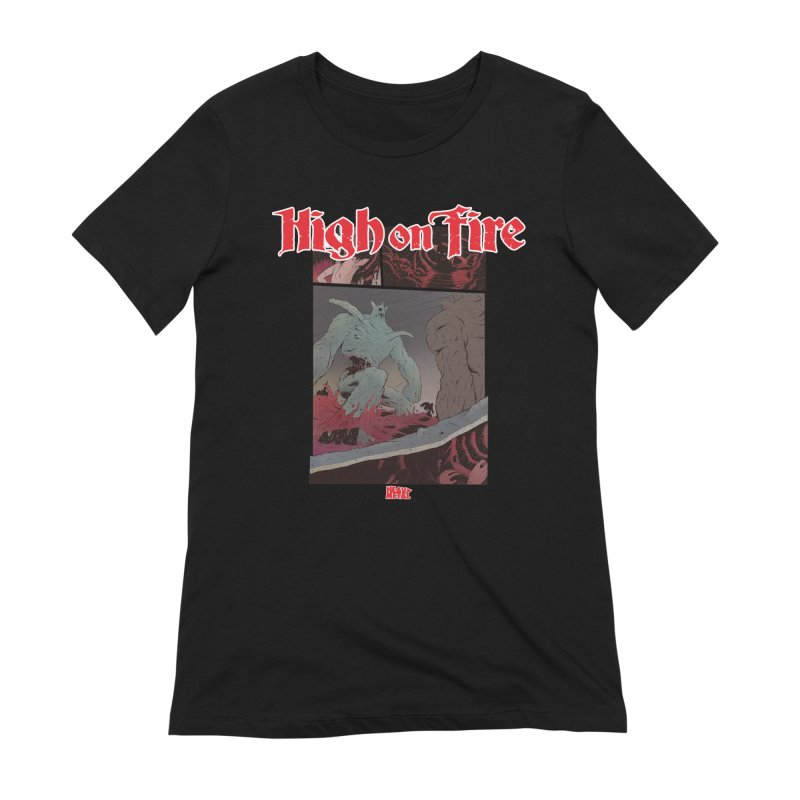 HIGH ON FIRE Heavy Metal 295 71 Women's Extra Soft T-Shirt by Heavy Metal Magazine