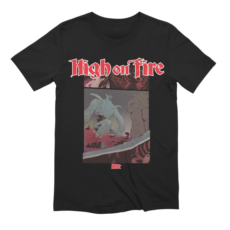 HIGH ON FIRE Heavy Metal 295 71 Men's Extra Soft T-Shirt by Heavy Metal Magazine