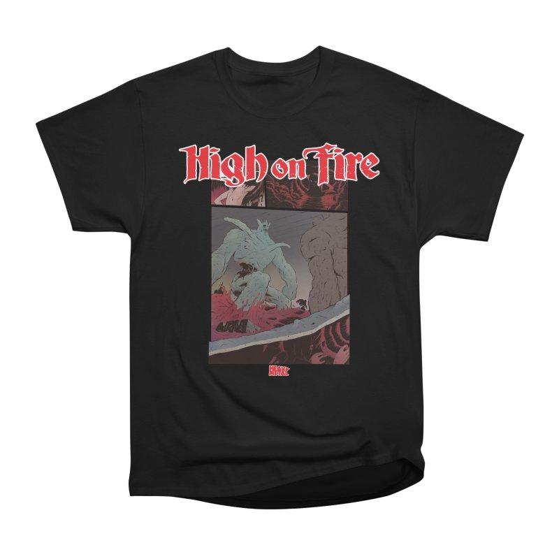 HIGH ON FIRE Heavy Metal 295 71 Women's T-Shirt by Heavy Metal Magazine