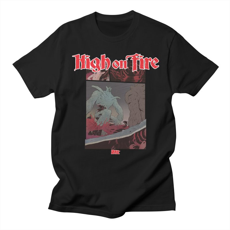 HIGH ON FIRE Heavy Metal 295 71 Women's Regular Unisex T-Shirt by Heavy Metal Magazine