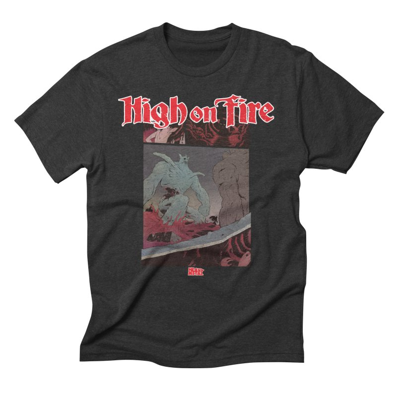 HIGH ON FIRE Heavy Metal 295 71 Men's T-Shirt by Heavy Metal Magazine