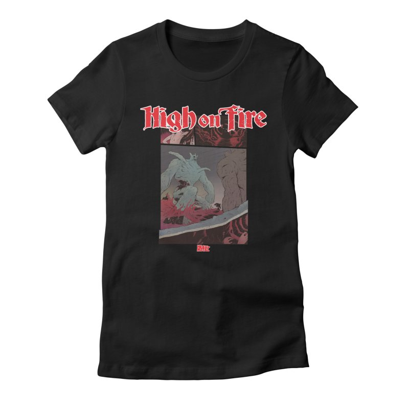 HIGH ON FIRE Heavy Metal 295 71 Women's Fitted T-Shirt by Heavy Metal Magazine