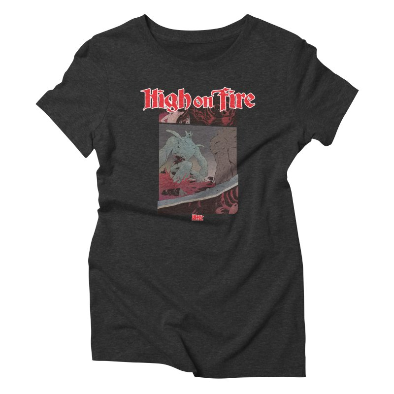 HIGH ON FIRE Heavy Metal 295 71 Women's Triblend T-Shirt by Heavy Metal Magazine