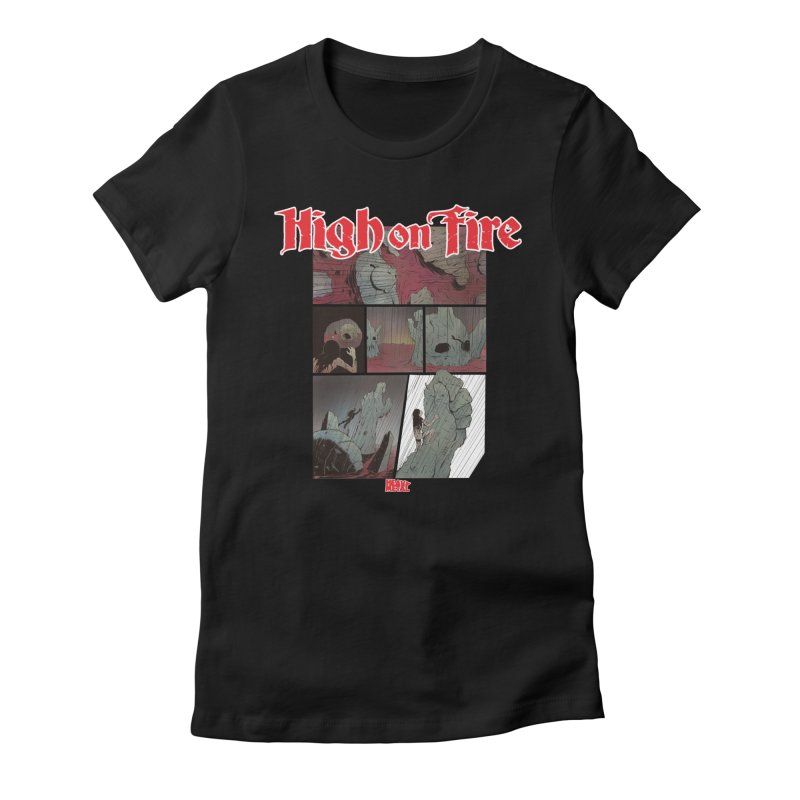 HIGH ON FIRE Heavy Metal 295 72 Women's Fitted T-Shirt by Heavy Metal Magazine