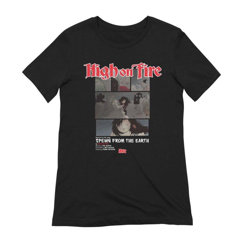HIGH ON FIRE Heavy Metal 295 73 Women's T-Shirt by Heavy Metal Magazine