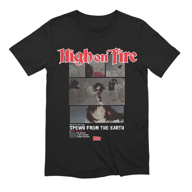 HIGH ON FIRE Heavy Metal 295 73 Men's Extra Soft T-Shirt by Heavy Metal Magazine