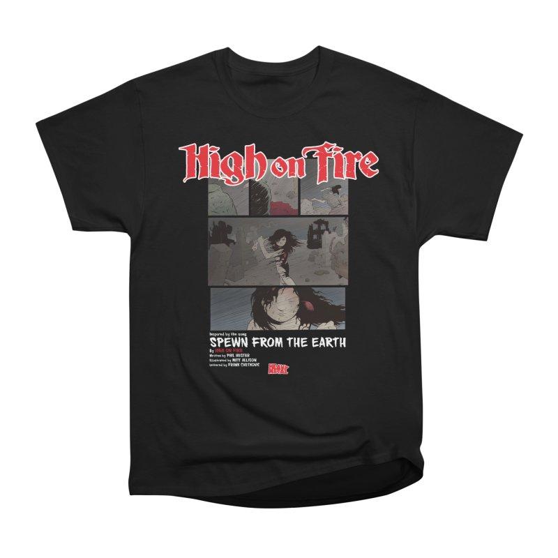 HIGH ON FIRE Heavy Metal 295 73 Men's Heavyweight T-Shirt by Heavy Metal Magazine