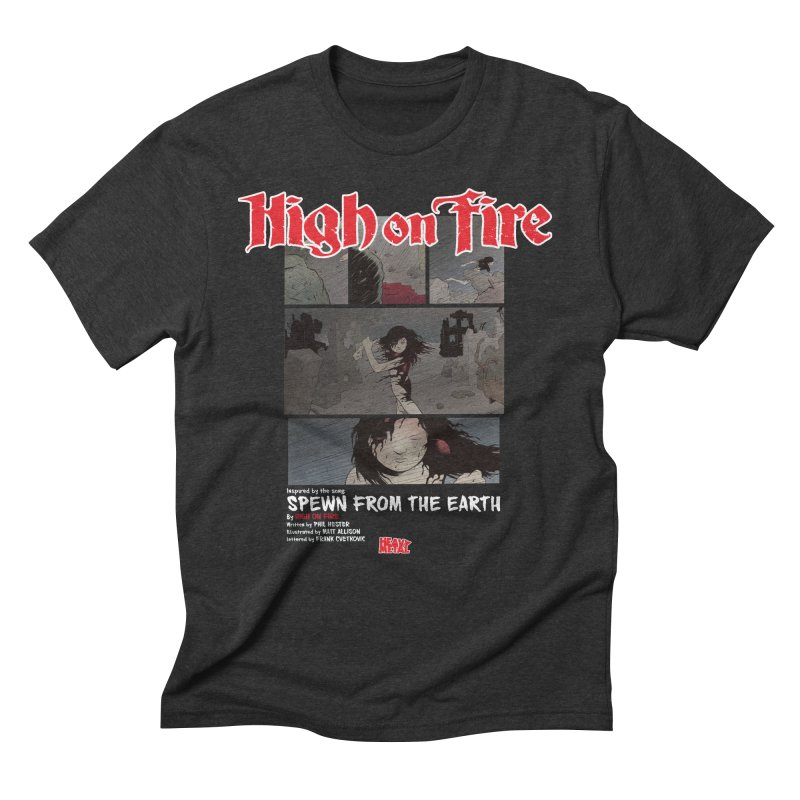 HIGH ON FIRE Heavy Metal 295 73 Men's T-Shirt by Heavy Metal Magazine