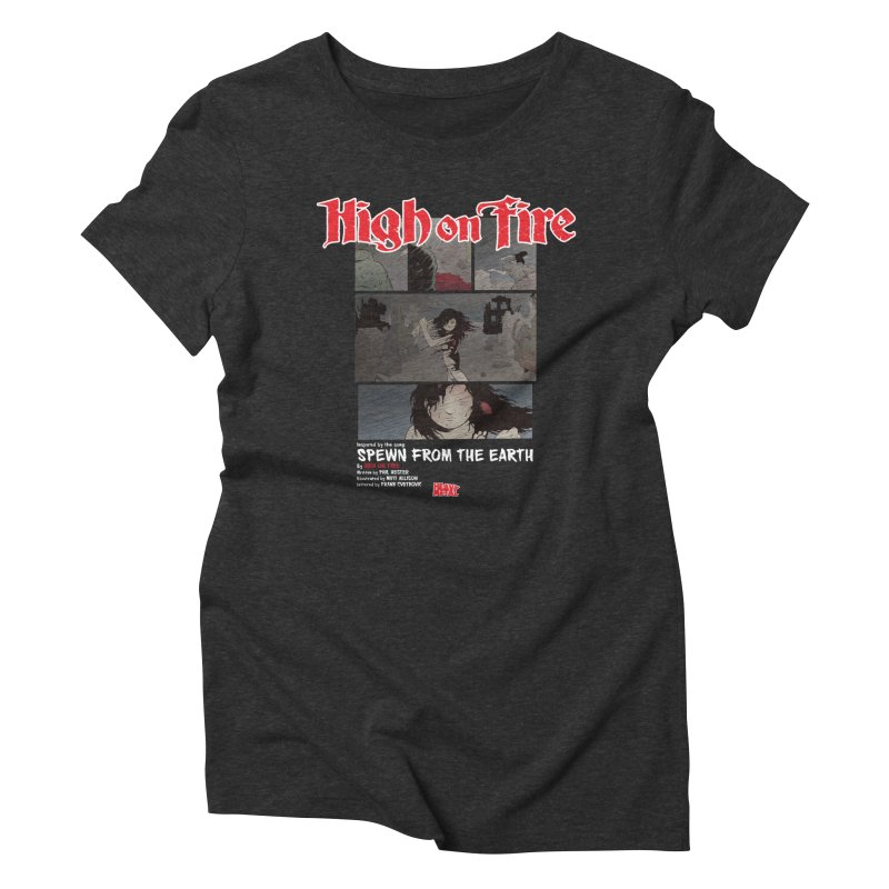 HIGH ON FIRE Heavy Metal 295 73 Women's Triblend T-Shirt by Heavy Metal Magazine