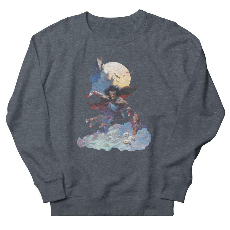 Wolves Night Men's Sweatshirt by Heavy Metal Magazine