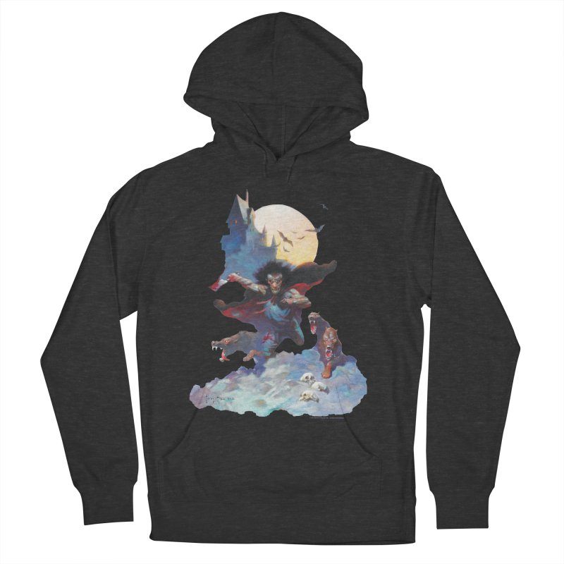 Wolves Night Women's French Terry Pullover Hoody by Heavy Metal Magazine