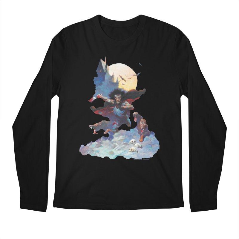 Wolves Night Men's Regular Longsleeve T-Shirt by Heavy Metal Magazine
