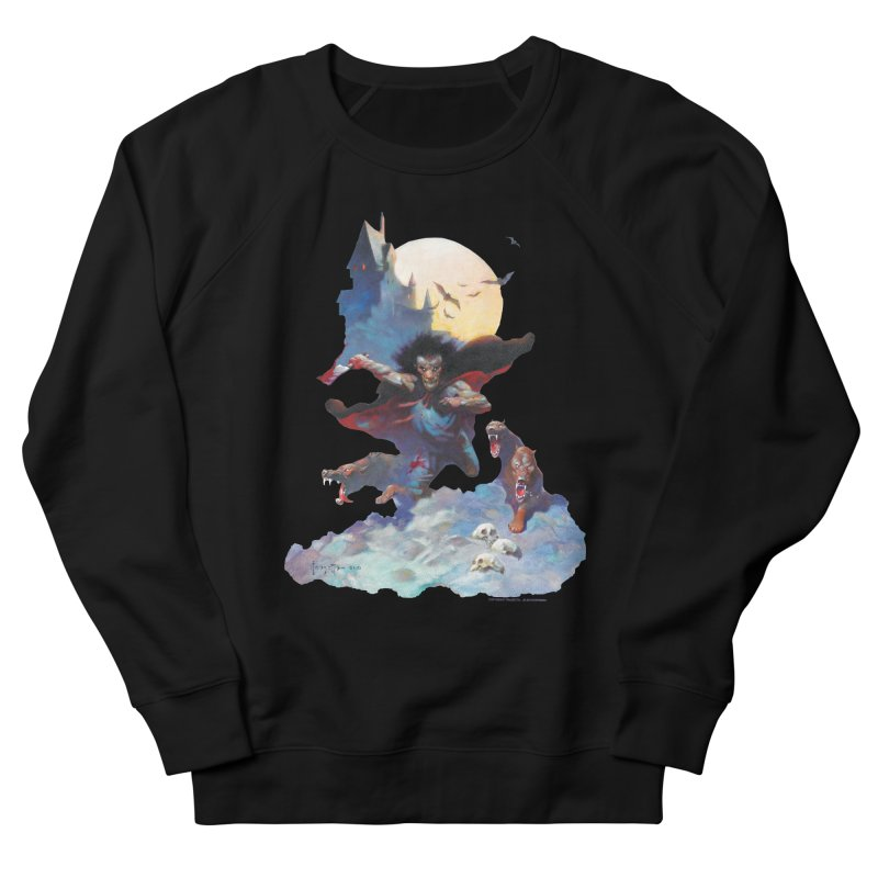 Wolves Night Women's French Terry Sweatshirt by Heavy Metal Magazine
