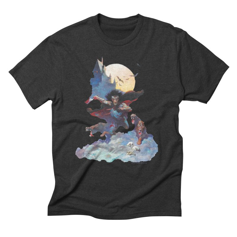 Wolves Night Men's Triblend T-Shirt by Heavy Metal Magazine