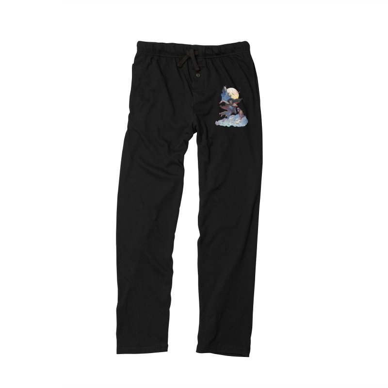 Wolves Night Men's Lounge Pants by Heavy Metal Magazine