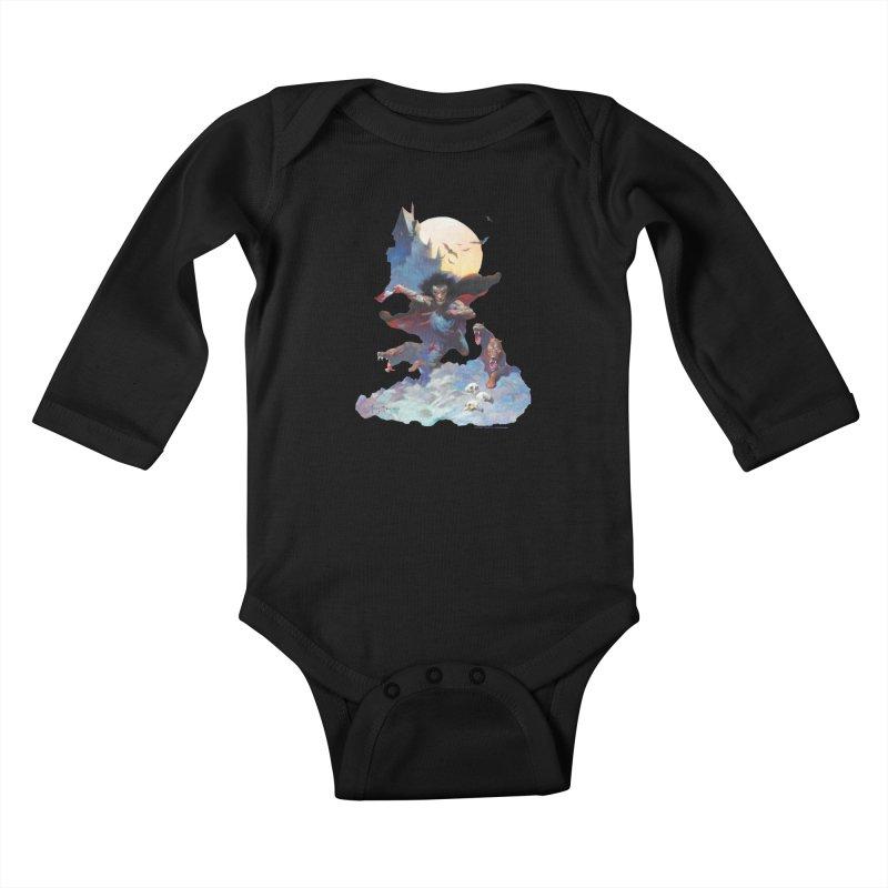 Wolves Night Kids Baby Longsleeve Bodysuit by Heavy Metal Magazine
