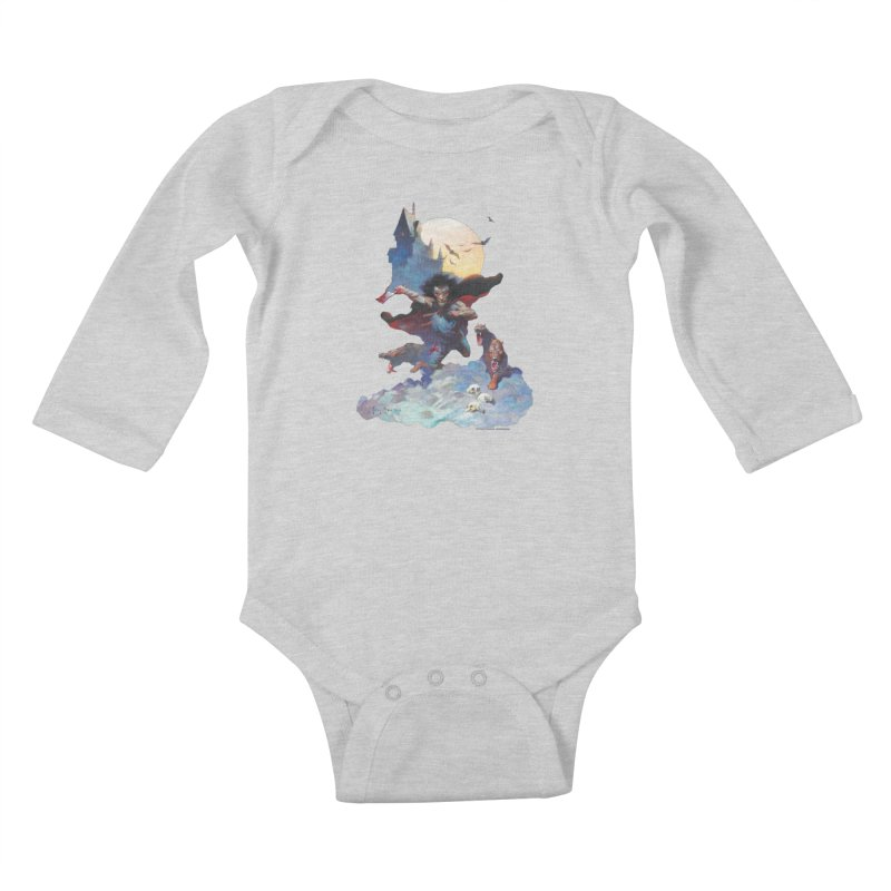 Wolves Night Kids Baby Longsleeve Bodysuit by Heavy Metal Magazine