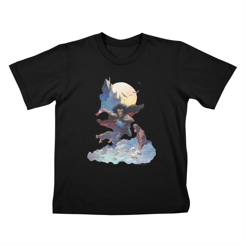 Wolves Night Kids T-Shirt by Heavy Metal Magazine