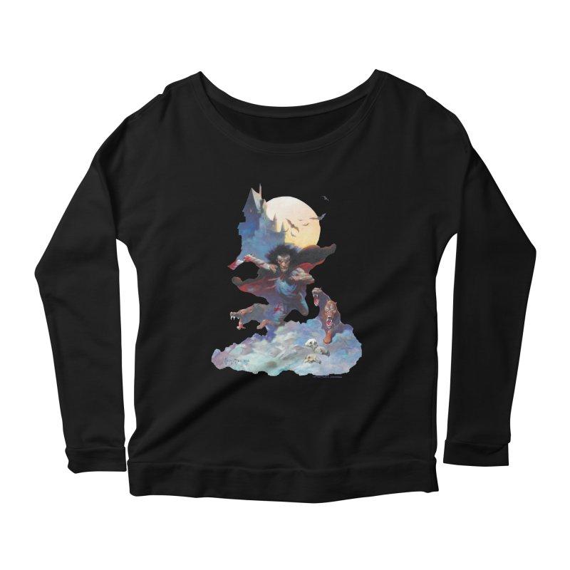 Wolves Night Women's Scoop Neck Longsleeve T-Shirt by Heavy Metal Magazine