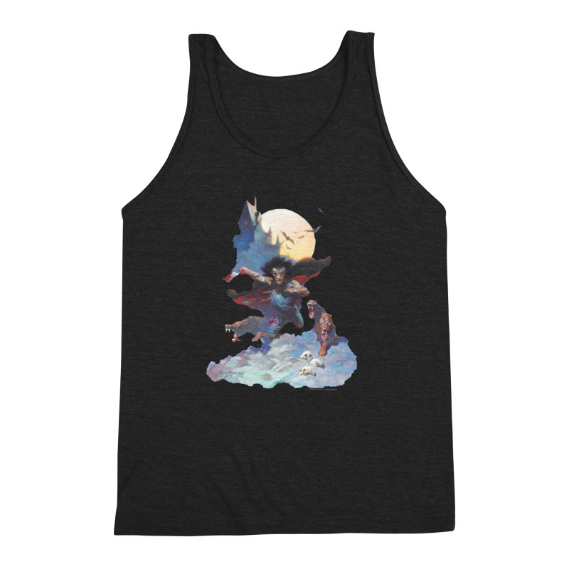 Wolves Night Men's Triblend Tank by Heavy Metal Magazine
