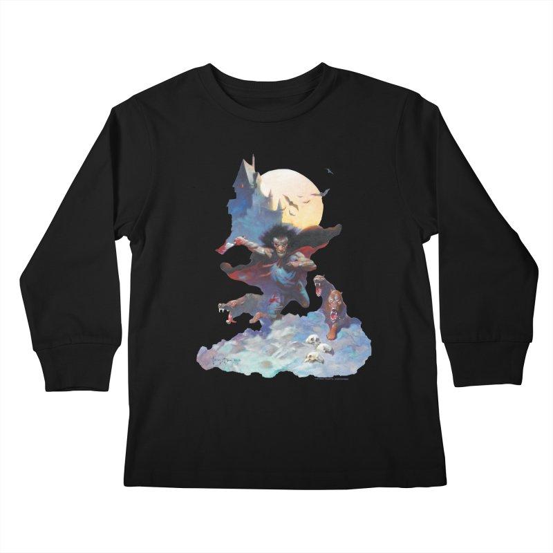 Wolves Night Kids Longsleeve T-Shirt by Heavy Metal Magazine