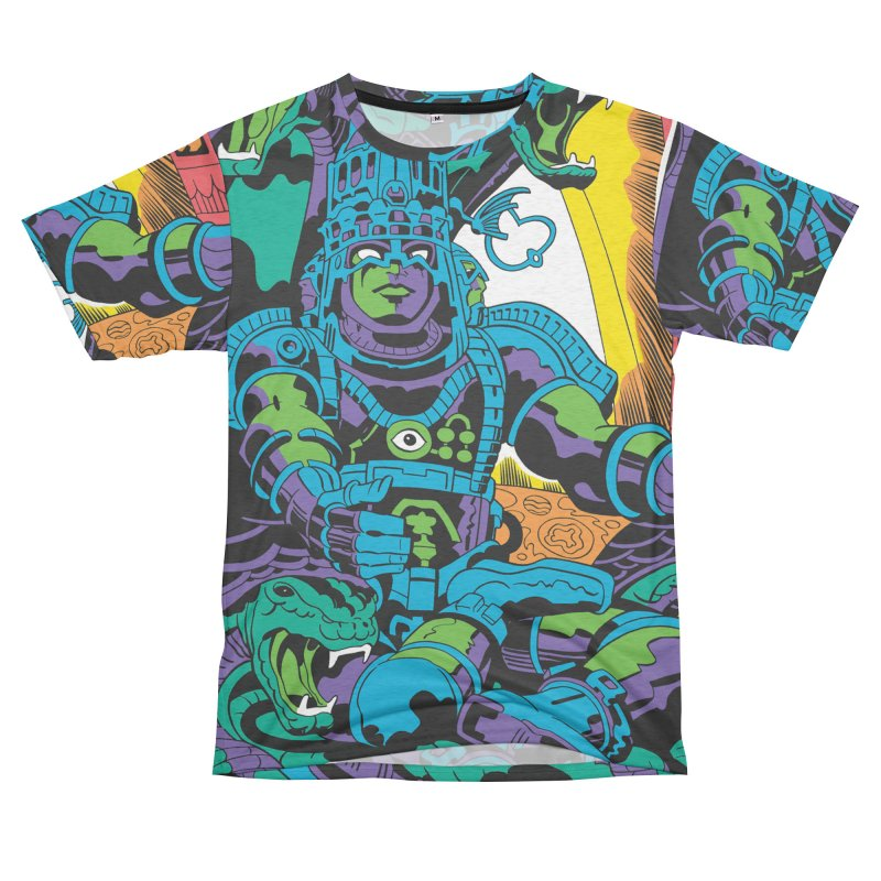 Royal Chambers of Brahma - Jack Kirby and Barry Geller Men's French Terry T-Shirt Cut & Sew by Heavy Metal Magazine