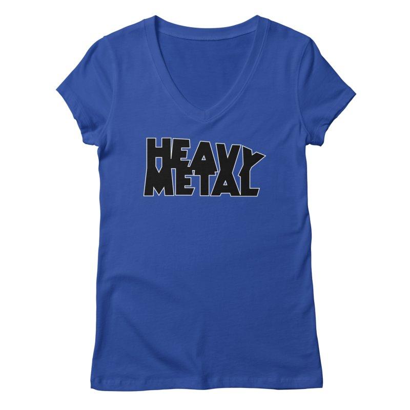 Heavy Metal Women's V-Neck by Heavy Metal Magazine