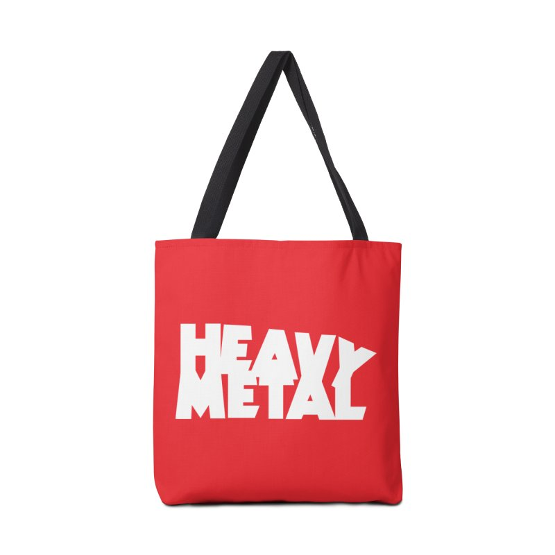 Heavy Metal White Logo Accessories Tote Bag Bag by Heavy Metal Magazine