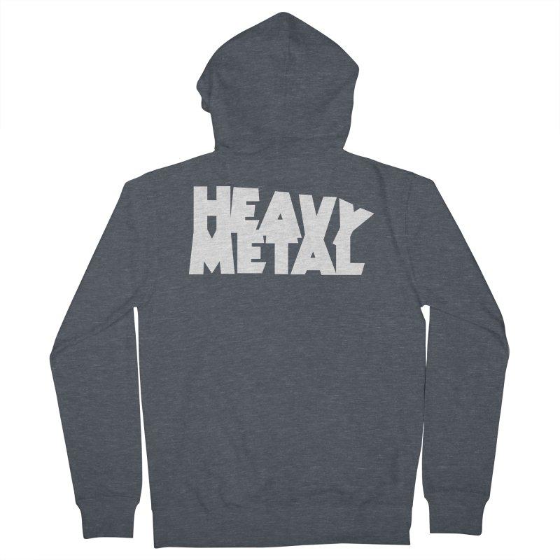 Heavy Metal White Logo Men's Zip-Up Hoody by Heavy Metal Magazine