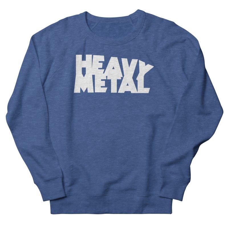 Heavy Metal White Logo Women's Sweatshirt by Heavy Metal Magazine
